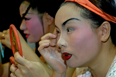 Geting ready for a Chinese Opera, Malacca, Malaysia
