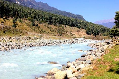 Liddar River, Kashmir, India