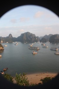 Rush hour in Halong Bay, Vietnam