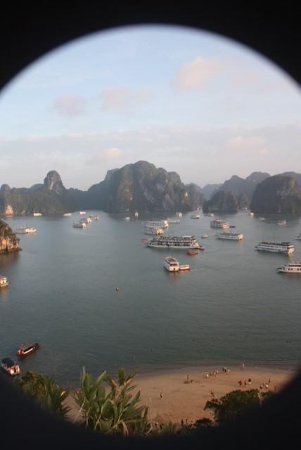 Rush hour in Halong Bay, Vietnam