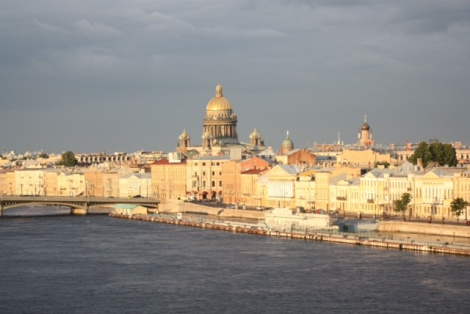 Evening Sunlight on St Petersburg, Russia